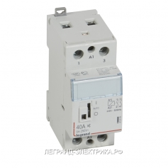 Legrand CX3 Контактор 230V 2НО 25А б/ш.руч